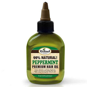 Difeel Premium Natural Hair Oil - Peppermint Oil 2.5 Oz