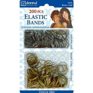 Donna Elastic Bands 200Pieces Black