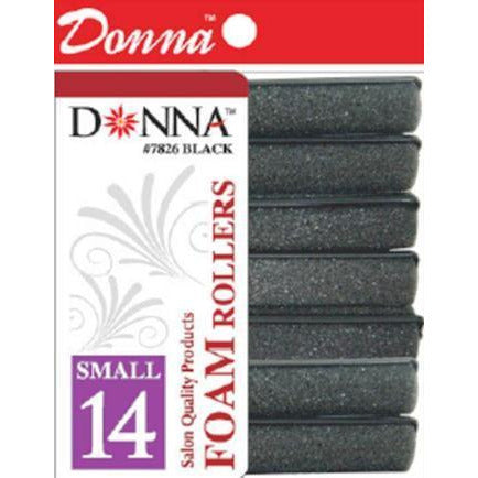 Donna Foam Rollers Small Black