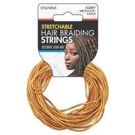 Donna Hair Braiding Strings Gold