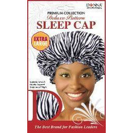 Donna Premium Collection Deluxe Pattern Sleep Cap Extra Large - Zebra