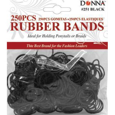 Donna Rubber Bands 300Ct Black