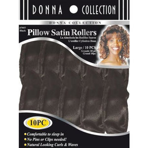 Donna Satin Pillow Rollers 10Piece