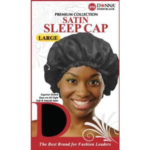 Donna Satin Sleep Cap Black