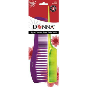 Donna Style Combo & Tail Comb Combo Assorted