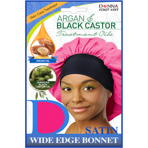 Donna Argan Black Castor Wide Bonnet