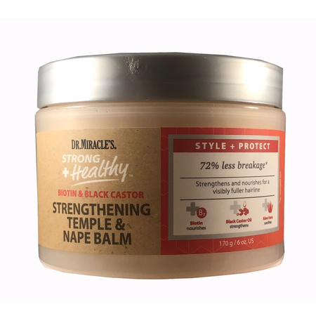 Dr. Miracle's Strong + Healthy Strengthening Temple & Nape Balm 6 oz