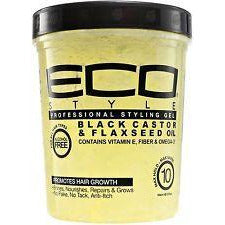 Eco Styling Gel Black Castor & Flaxseed Oil 5 Lb