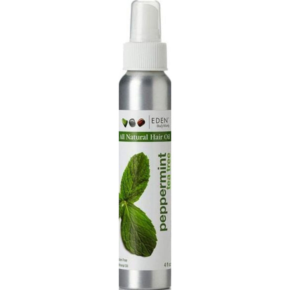 Eden Body Works Peppermint Tea Tree Hair Oil, 4 Oz