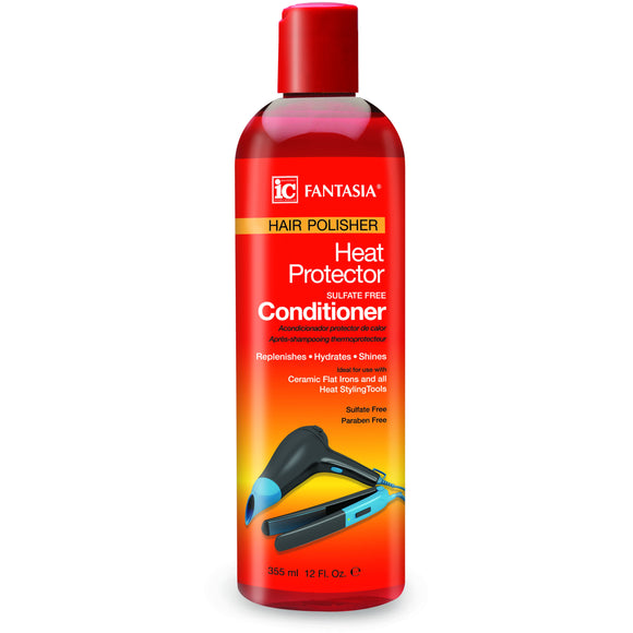 Fantasia Hair Polisher Heat Protector Sulfate-Free Conditioner, 12 Ounce