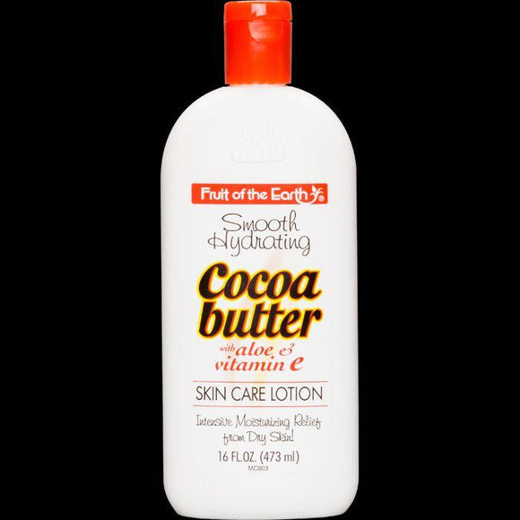 Fruit Of The Earth Cocoa Butter With Aloe Skin Care Lotion 16 Oz