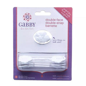 Gabby Dbl Face Snap Bar White 5Pack