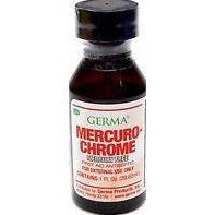 Germa Mercuro-Chrome Mercury Free First Aid Antiseptic 1 Oz