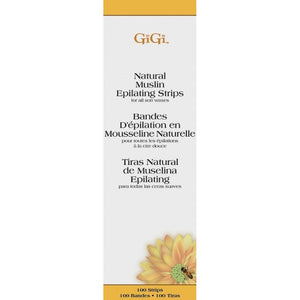 Gigi Natural Muslin Epilating Strips, Petite, 100Pk