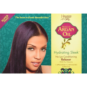 Hawaiian Silky Argan Oil No Lye Conditioning Relaxer Kit Regular