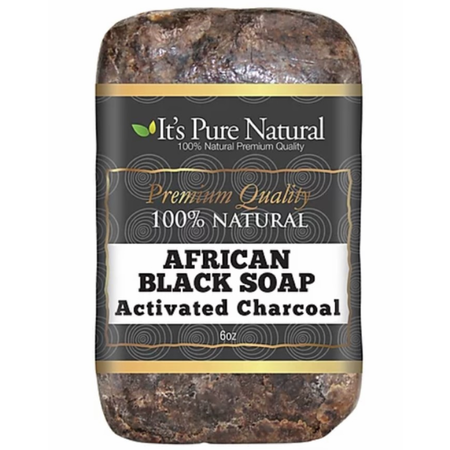 It's Pure Natural African Black Soap Activated Charcoal 5 oz