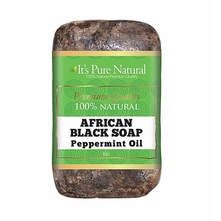 It's Pure Natural African Black Soap Bars with Activated Charcoal, 5oz