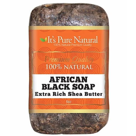 It's Pure Natural African Black Soap Extra Rich Shea Butter 5 oz