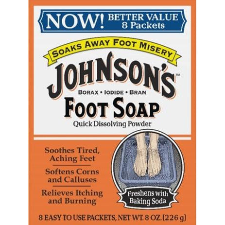 Johnson's Foot Soap 8 Count