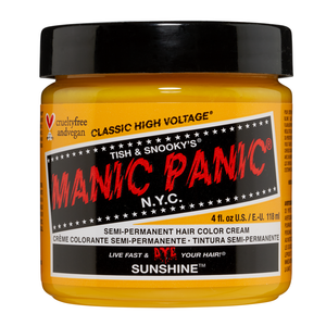 Manic Panic Semi-Permanent Hair Color Cream Sunshine 4 Oz