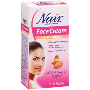 Nair Hair Remover Moisturizing Face Cream With Sweet Almond Oil - 2Oz