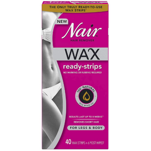 Nair Hair Remover Wax Ready-Strips For Legs & Body, 40Ct
