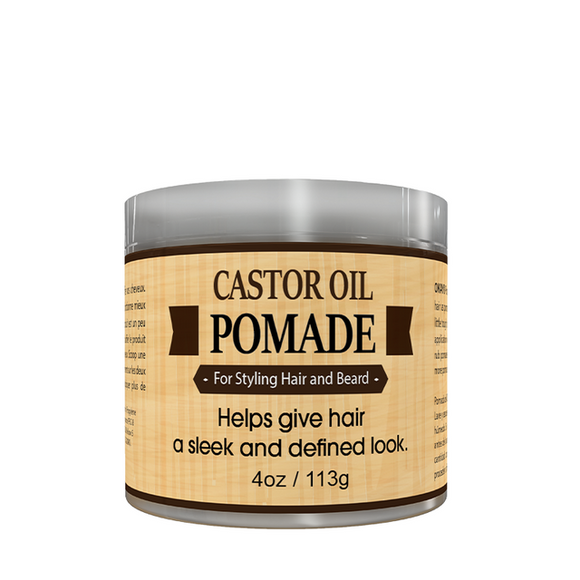 Okay Men Castor Oil Beard and Hair Pomade, 4oz
