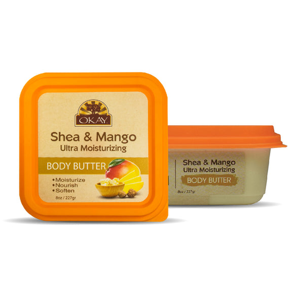 Okay Shea & Mango Ultra Moisturizing Body-Butter - 8 Oz