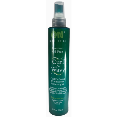 On Nat Curl-Wavy Conditioner & Detangler Peppermint 8OZ
