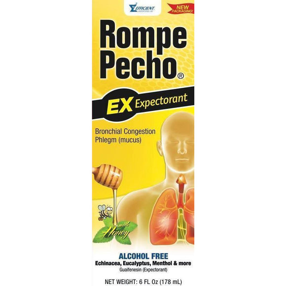 Rompe Pecho-Cough Syrup Regular 6Oz