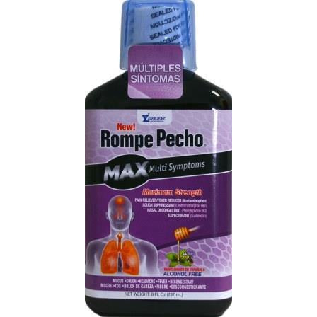 Rompe Pecho Multi-Symptom Maximum Strength Cough Syrup 8 Oz