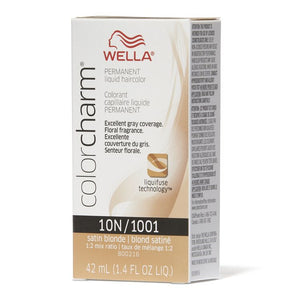 Wella Color Charm - Liquid Creme Haircolor - Color : #1001/10N - Satin Blonde