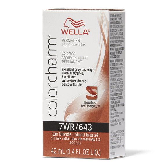 Wella Tan Blonde Color Charm Liquid Permanent Hair Color
