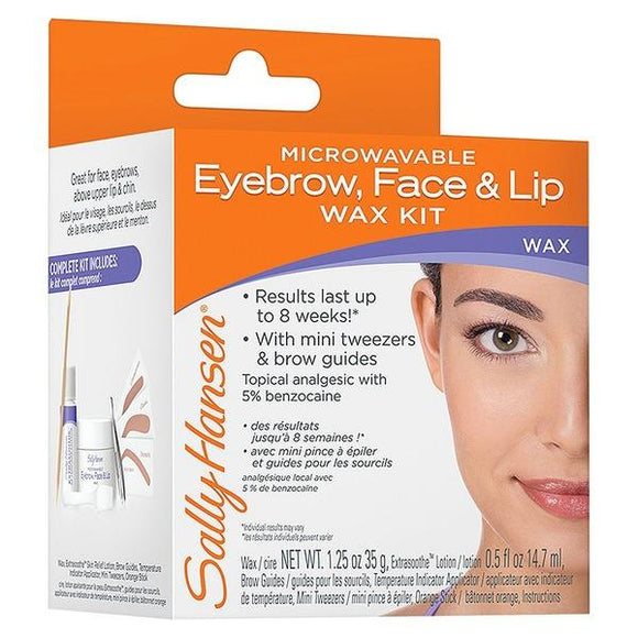 Sally Hansen Microwaveable Wax Kit Eyebrow Face