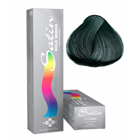 Satin Bold Series Hair Color 5 Dark Green, 3 Oz