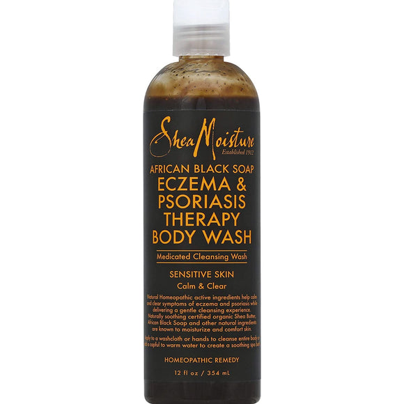 Shea Moisture African Black Soap Body wash Eczema 12Oz
