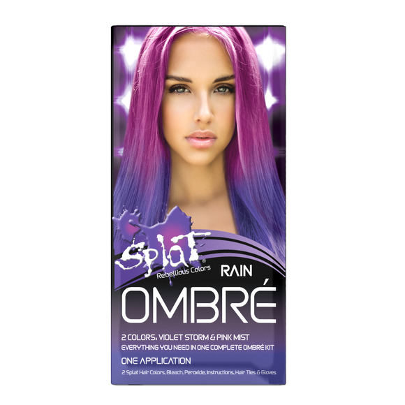 Splat Rebellious Colors Hair Coloring Complete Kit Rain Ombre, 1.5 Oz