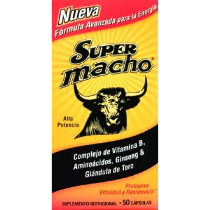 Super Macho Dietary Supplement With High Potency B Vitamins, 50 Softgels