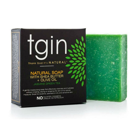TGIN Olive Oil Soap - Jasmine Green Tea (4 oz. Bar)