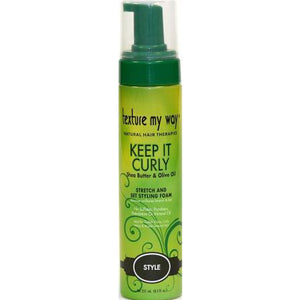 Texture My Way Keep It Curly Stretch And Set Styling Foam - 8.5 Oz