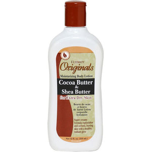 Ultimate Originals Cocoa Butter & Shea Butter For Extra Dry Skin Moisturizing Body Lotion - 12 Oz