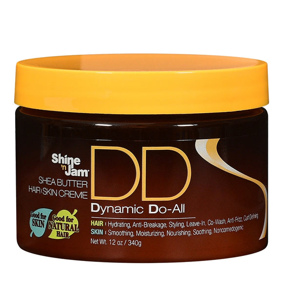 AMPRO PRO STYL SHINE 'N JAM SHEA BUTTER DYNAMIC DO-ALL HAIR & SKIN CREME (12 OZ.)