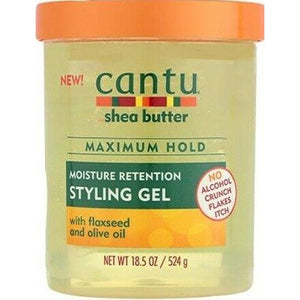Cantu Shea Butter Maximum Hold Moisture Retention Styling Gel 18.5 Oz