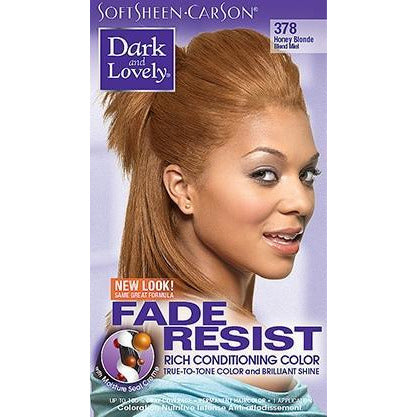 Dark And Lovely 378 Fade-Resist Rich Conditioning Hair Color - Honey Blonde
