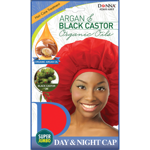 Donna Argan Black Castor Day & Night Cap Jumbo