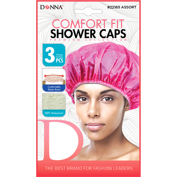 Donna Shower Cap Comfort Fit 3 Pieces