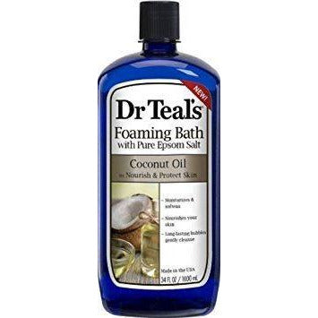 Dr. Teals Coconut Oil Foaming Bath, 34 Oz