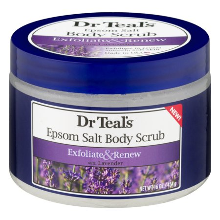 Dr Teal's Epsom Salt Body Scrub With Lavender, 16 Oz