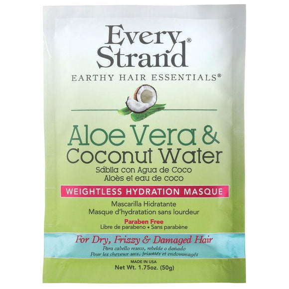 Every Strand Aloe Vera & Coconut Water Weightless Hydration Masque, 1.75 Oz (12 Pack))