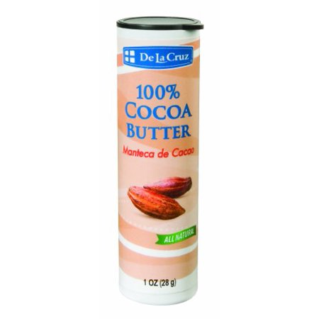 De La Cruz Pure Cocoa Butter, Hexane Free,1 OZ